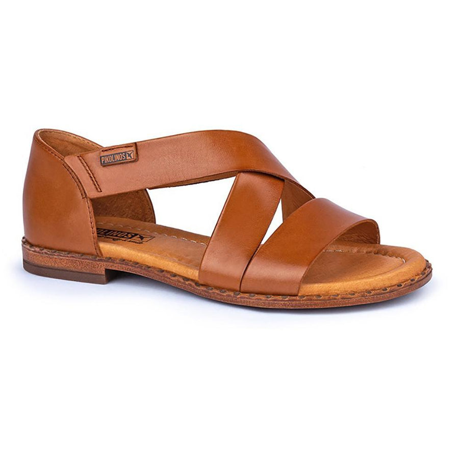 Quarter view Women's Pikolinos Footwear style name Algar WOX-0552 in color Brandy. Sku: WOX-0552BRA