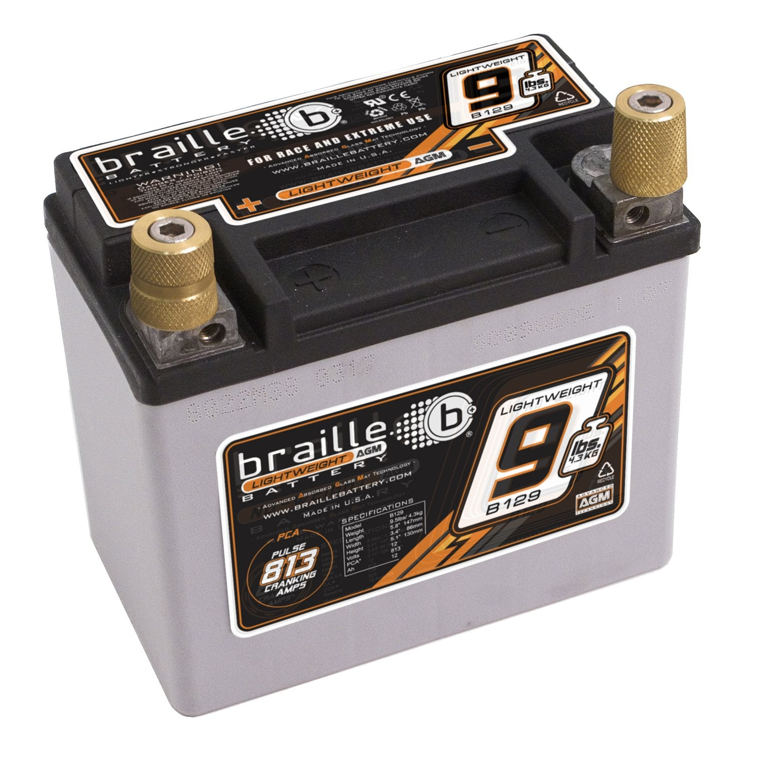 Braille Lightweight AGM Battery