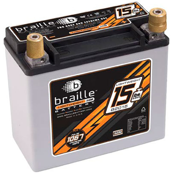Braille B2015 Carbon Fiber / Non-Carbon Fiber All Season Battery