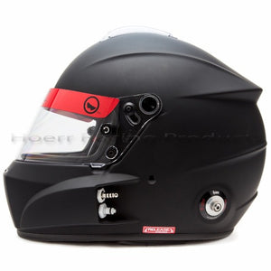 Roux - R-1 Fiberglass, Flat Black, Interior Color-Black, Shield: Clear