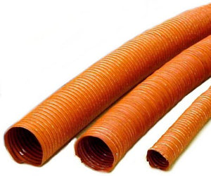 "Orange Silicone Duct Hose Single Ply 1.5"" - 6"" Diameters"