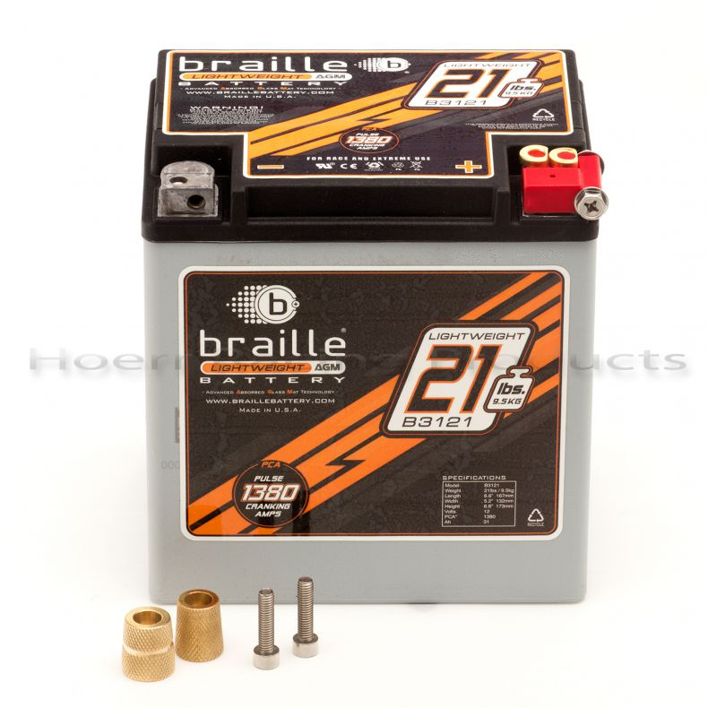 Braille B3121 Carbon Fiber / Non-Carbon Fiber Premium & Extreme Use Lightweight Battery