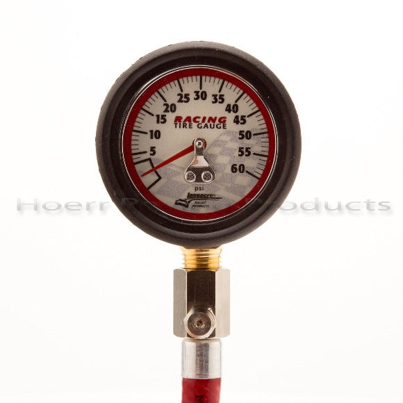 Longacre - Glow in the Dark 0-60 PSI Tire Pressure Gauge w/Angle & Ball Chuck