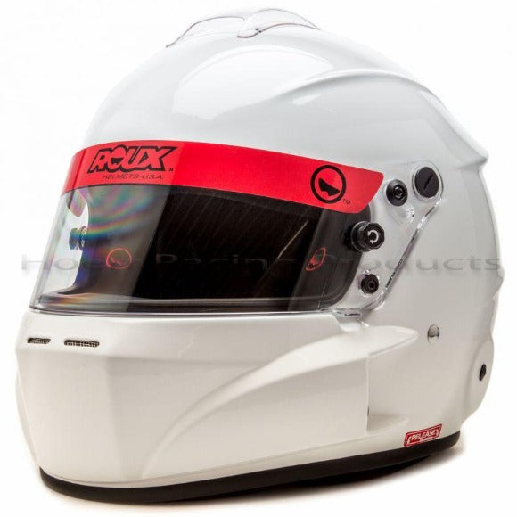 Roux R-1 Fiberglass Base Model,  Glossy White Helmet