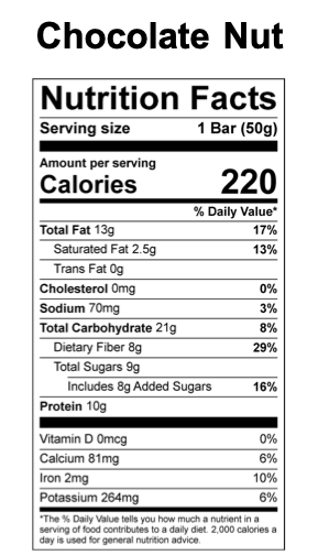 Go Condition Snack Bar- Chocolate Nut Flavor 12 Pack