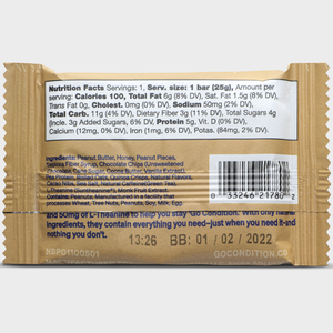 Go Condition Focus Bars- Peanut Chocolate Flavor 12 Pack