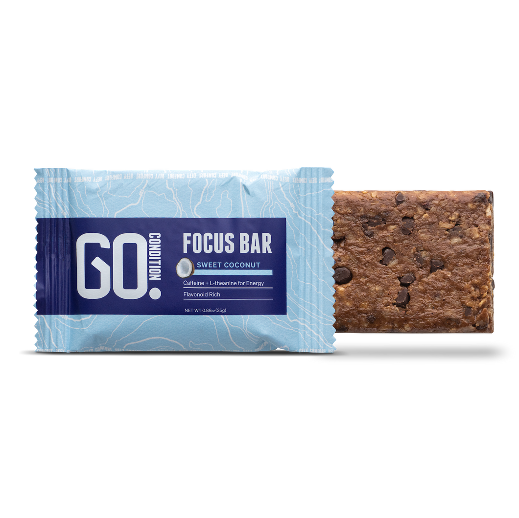 Go Condition Focus Bar- Sweet Coconut Flavor 12 Pack