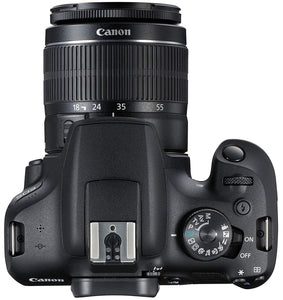 Canon EOS 1500D 24.1MP Digital SLR Camera (Black) with 18-55 and 55-250mm is II Lens