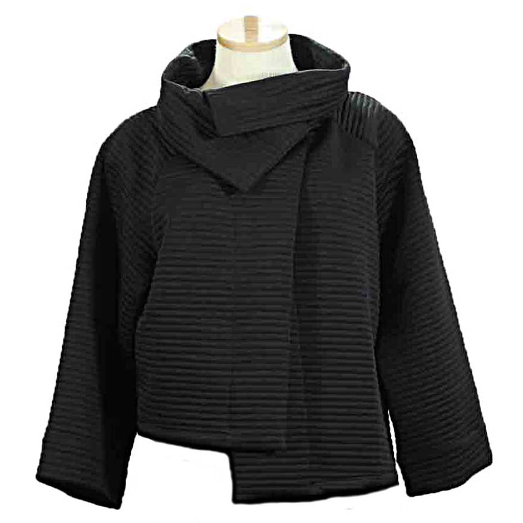 Alembika Crop Black Jacket - Simply Bella