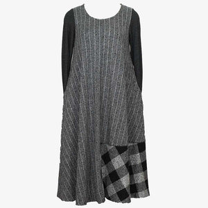 Alembika Line Stripe Gray Dress