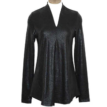 Load image into Gallery viewer, Alembika Snakeskin Black Top
