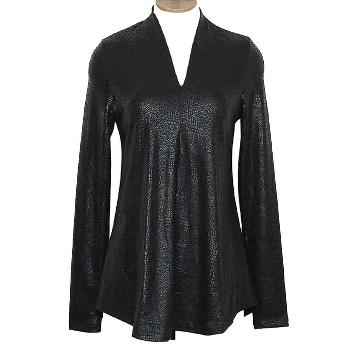 Alembika Snakeskin Black Top