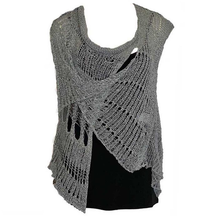 BK Moda Distressed Vest Gray