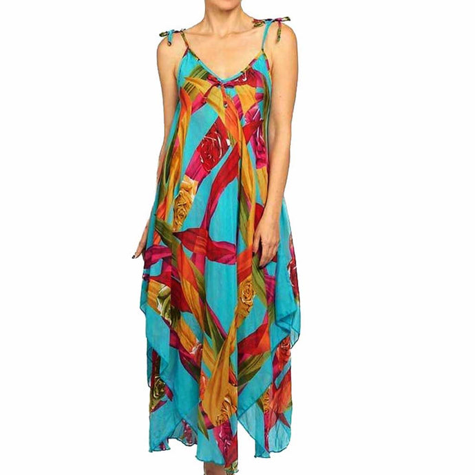 BK Moda Geometric Print Turquoise Dress