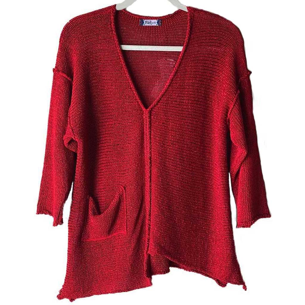 BK Moda V-Neck Sweater Red