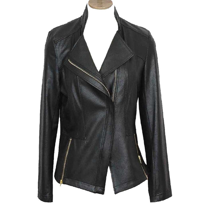 Clara Sunwoo Zip Leather Jacket - Simply Bella