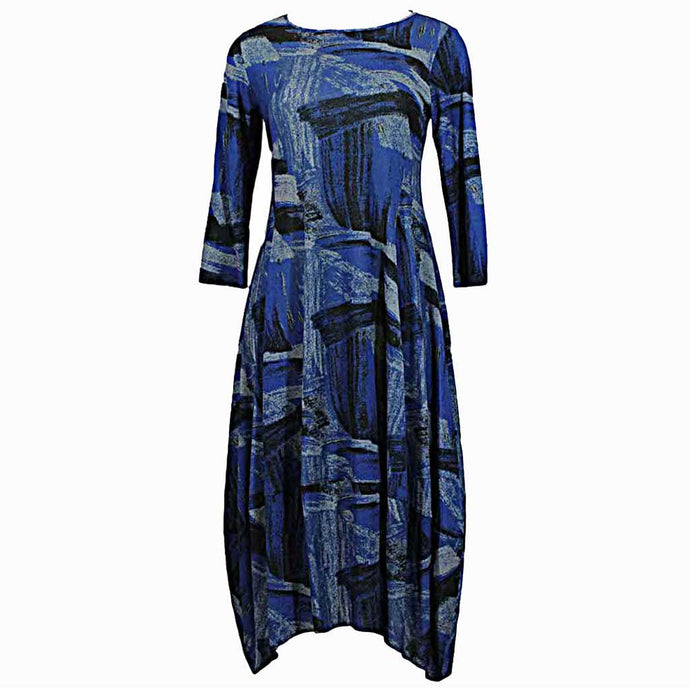 Comfy USA Kati Dress Blue - Simply Bella