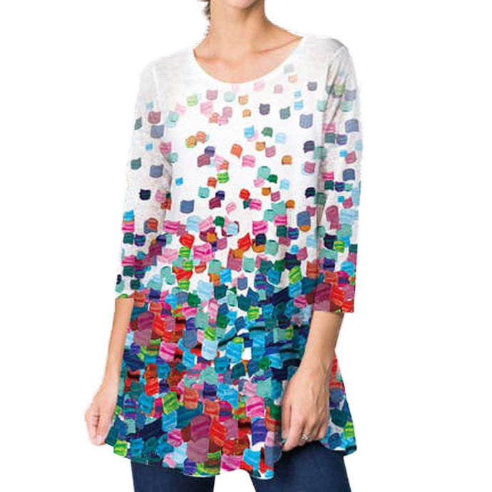 ET'Lois Colored Petals Tunic