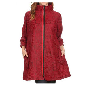 High Secret Loose Fit Jacket Red - Simply Bella