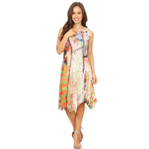 High Secret Multicolored Print Dress - Simply Bella