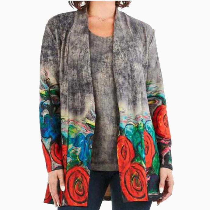 High Secret Painted Cardigan - Simply Bella