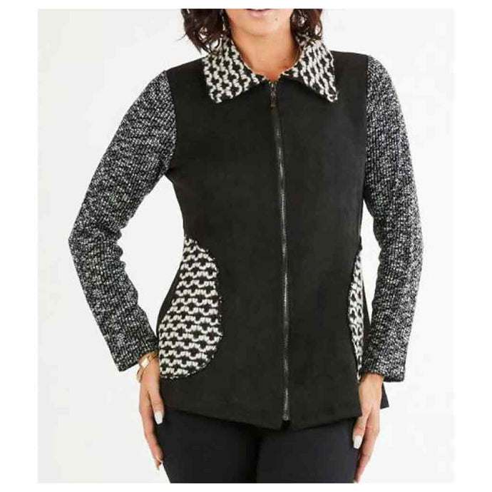 High Secret Zip Patchwork Jacket - Simply Bella