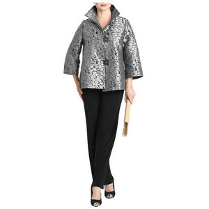 IC Collection Jacquard Jacket - Simply Bella
