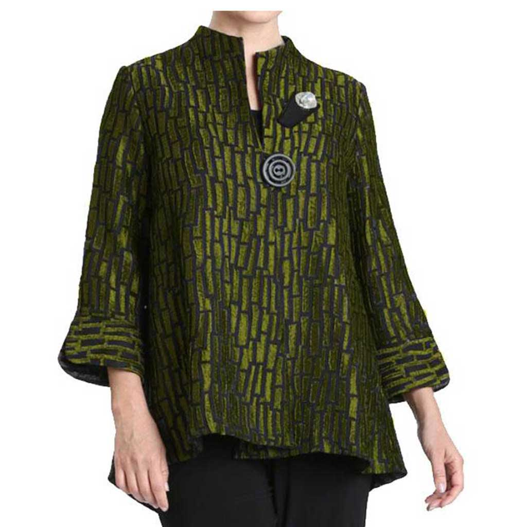 IC Collection Kiwi Jacquard Jacket - Simply Bella