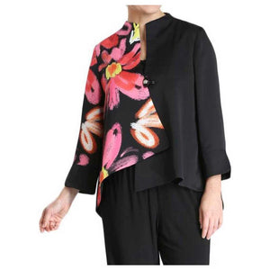 IC Collection Multi Floral Jacket - Simply Bella