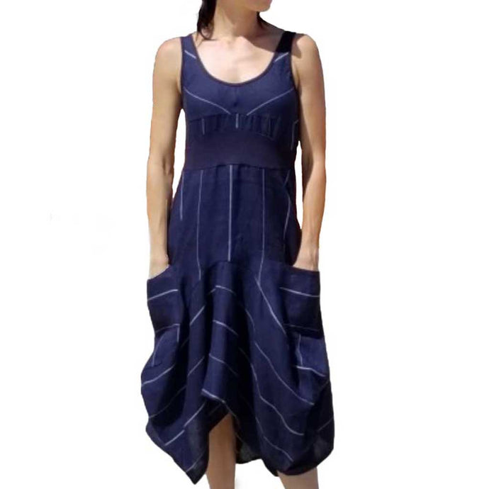 Inizio Magic Navy 2 Pocket Dress