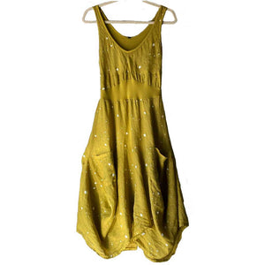 Inizio Magic Yellow Dot 2 Pocket Dress