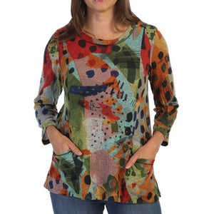 J&J Collection Pop Art Tunic Top