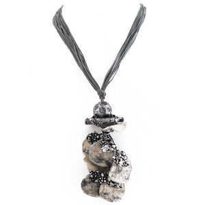 Lior Paris Gray & Silver Paper Mache Necklace