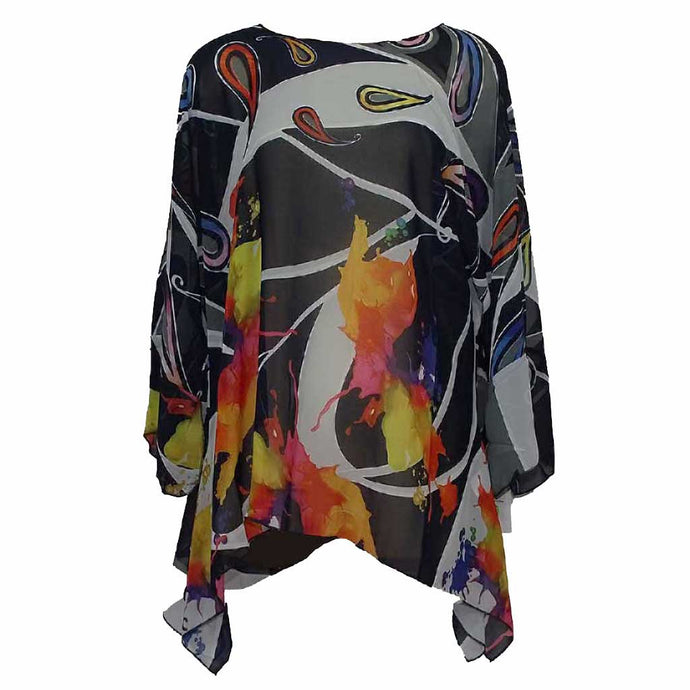 Lior Paris Tunic Multi Black - Simply Bella