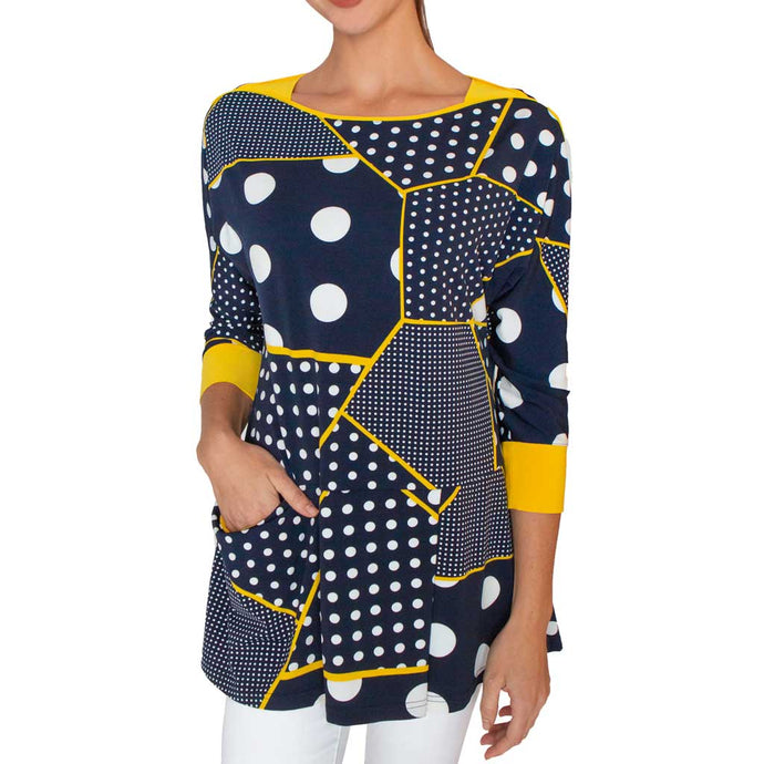 Lior Paris Navy Polka Tunic