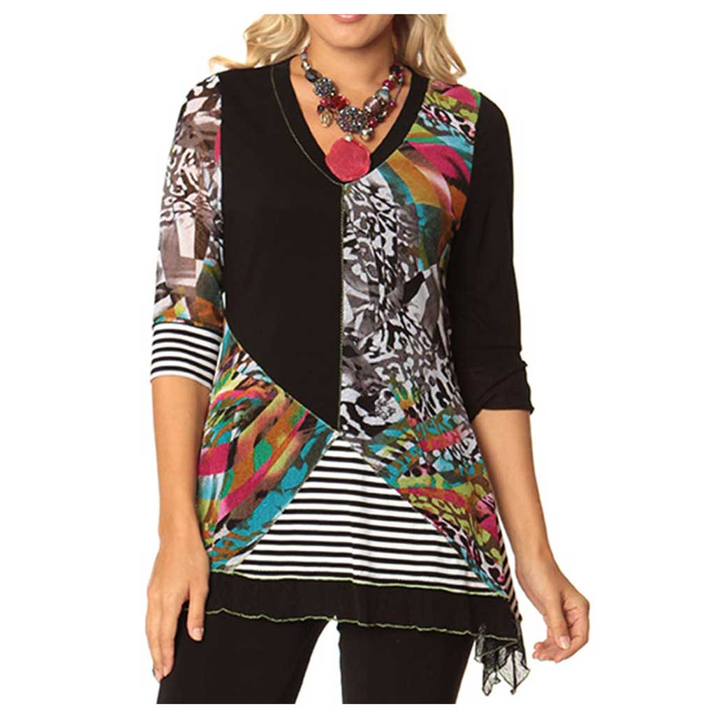 Lior Paris Patchwork Tunic - Simply Bella