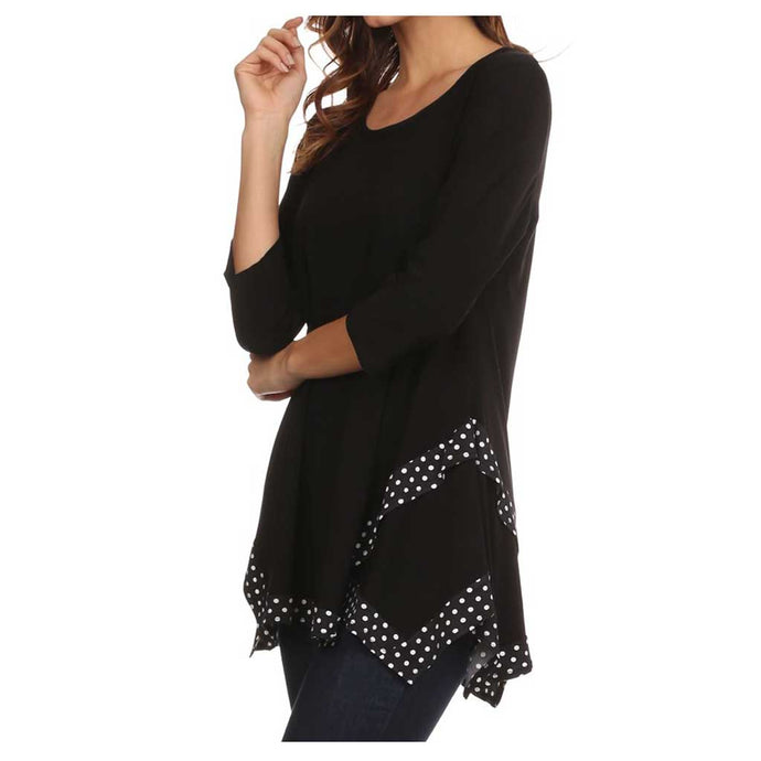 SB Collection Dot Trim Tunic - Simply Bella