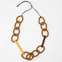Load image into Gallery viewer, Sylka Brown & Mustard Melissa Necklace
