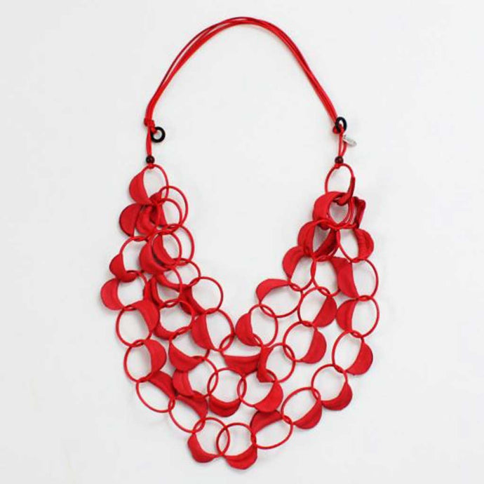 Sylka Adelyn Necklace Red