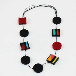 Sylka Handcrafted Marbled Necklace