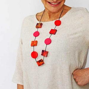 Sylka Red & Pink Chloe Necklace