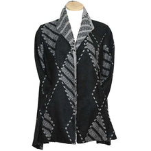 Load image into Gallery viewer, Yushi Soft Black Gray Jacket - Simply Bella