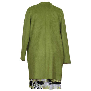 Zoe Suede Lime Jacket