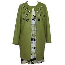 Load image into Gallery viewer, Zoe Suede Lime Jacket
