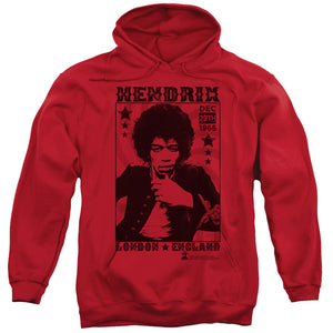 Jimi Hendrix London England Pull Over Hoodie
