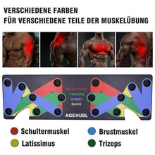 Laden Sie das Bild in den Galerie-Viewer, 9-in-1 Push-Up-Board Gymnastik Übung Liegestütze