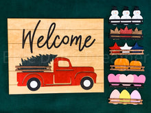 Load image into Gallery viewer, Interchangeable Truck Welcome sign (painted)