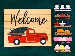 Interchangeable Truck Welcome sign (painted)