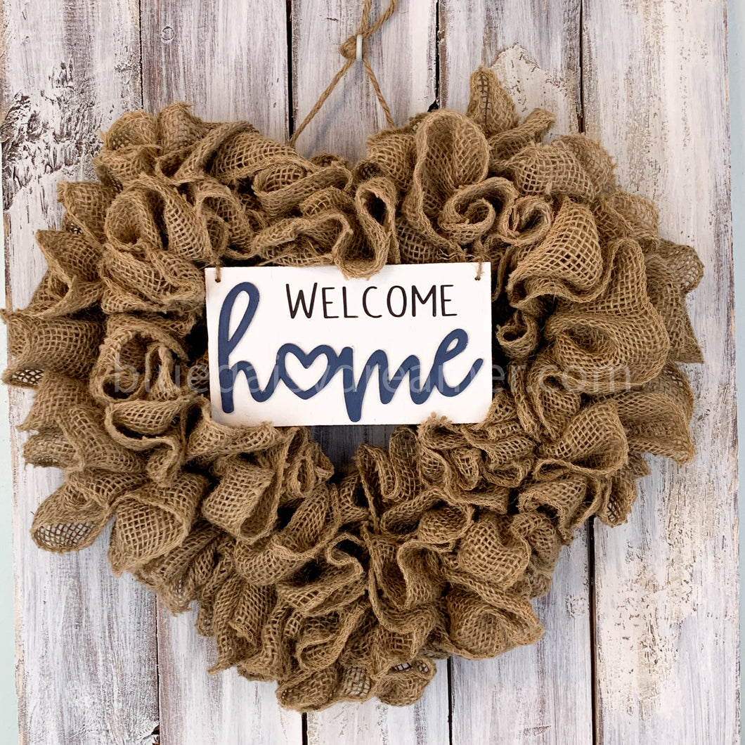 Burlap Heart Wreath