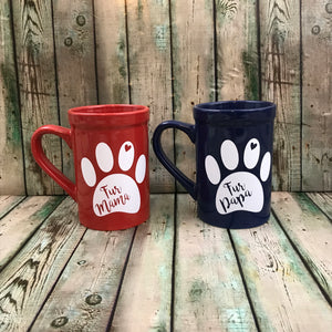 Fur Mama or Fur Papa Mug Decal